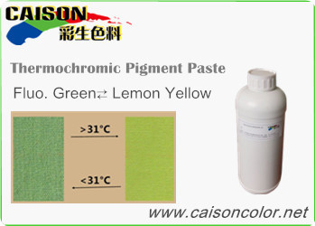 CTH-9006 Fluorescent green to Lemon yellow thermochromic pigment paste