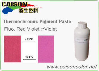 CTH-9008 Fluorescent Red Violet to Violet thermochromic pigment paste