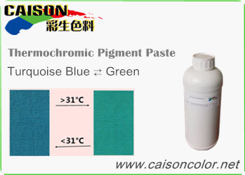 CTH-9303 Turquoise blue to Green thermochromic pigment paste