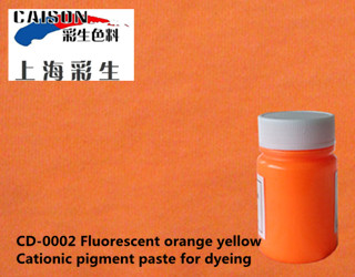 CD-0002 Fluorescent orange yellow pigment paste for textile dyeing