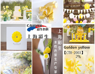 CTH-2003 Medium yellow pigment paste for textile printing