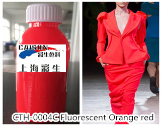 CTH-0004C Fluorescent orange red pigment color paste