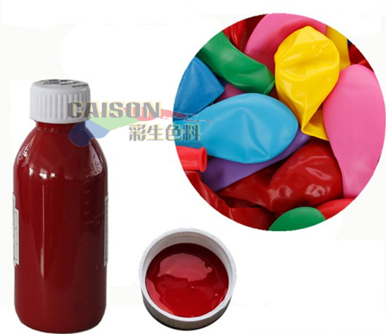 Develop special color of liquid pigment for latex balloon ...
